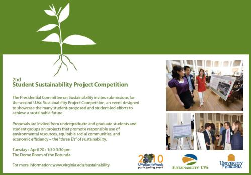 Student Sustainability Competition Poster